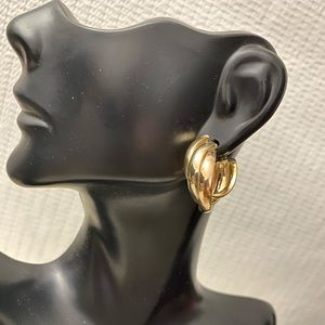 14K Solid Gold Three Tone Earrings